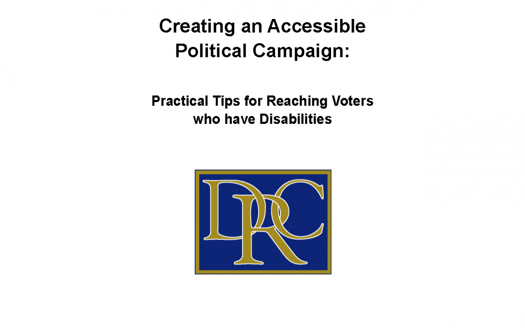Creating an Accessible Political Campaign